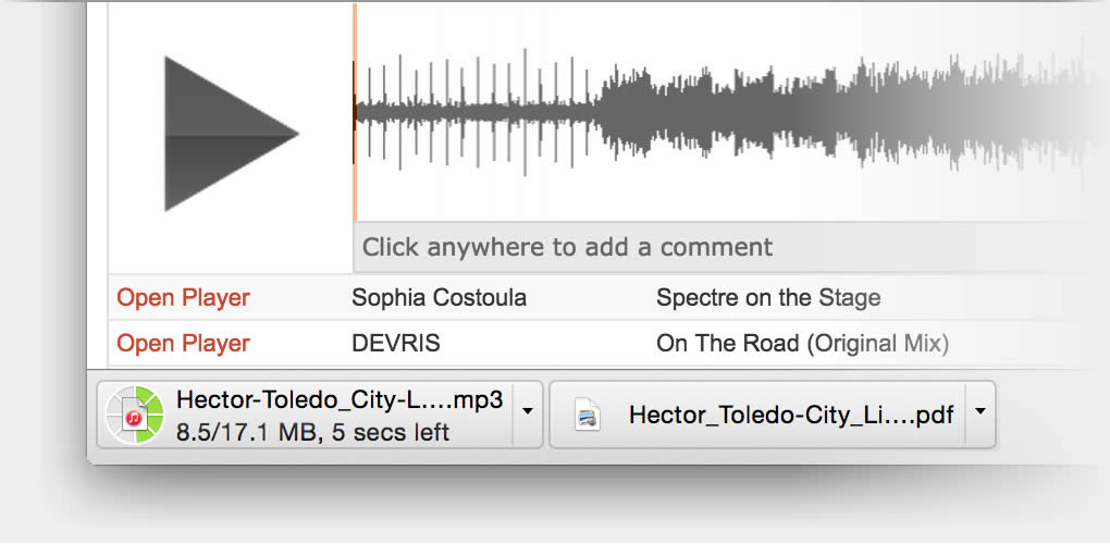 Download demo audio files and information for your records