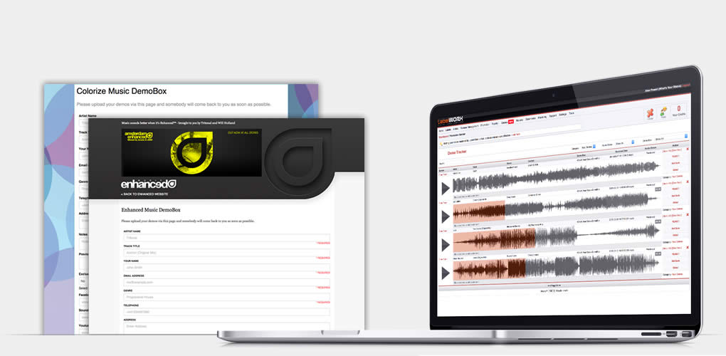 Designed for multiple A&R managers to manage demos from different sources