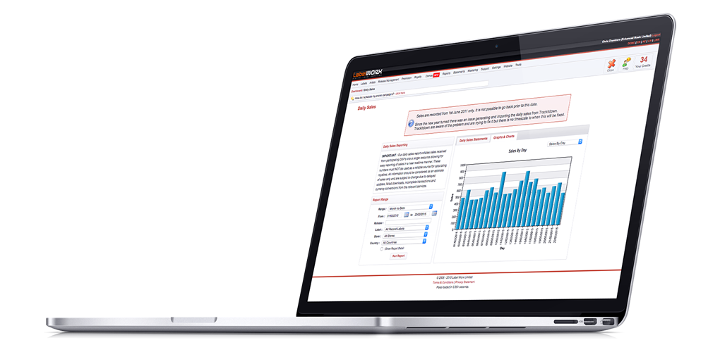 Monitor your sales at all times with in depth sales reporting