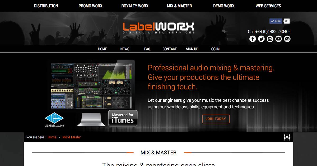 Mix & Master - Online Mastering | Label Worx