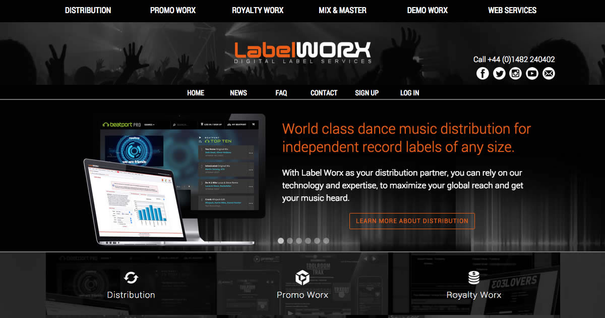 Label Worx - Digital Distribution, Promotion, Royalty Software & more