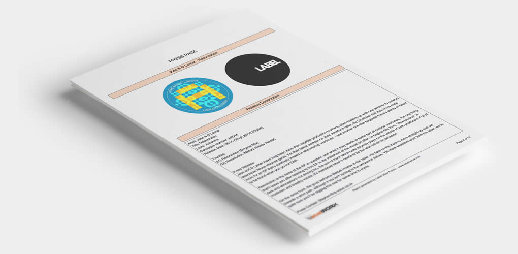 Generate fully branded, customisable reports to give to artists & stores